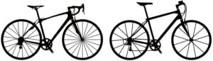 スポーツ車(シルエット)-自転車通学におすすめの【自転車】